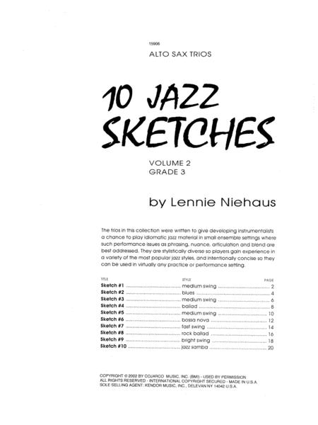 10 Jazz Sketches, Volume 2 (altos)