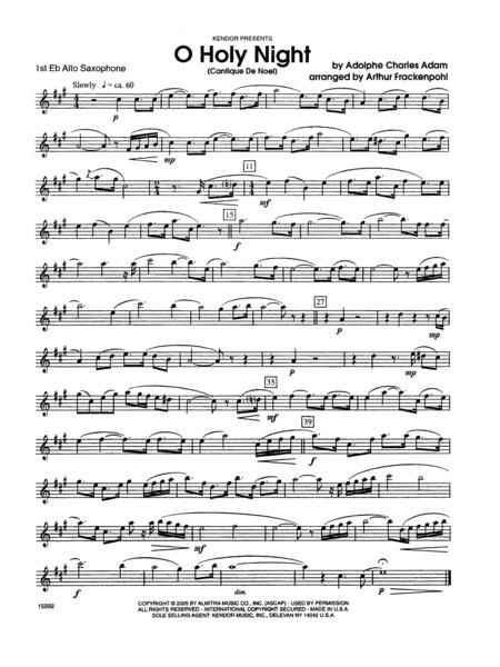 O Holy Night (Cantique de Noel) - 1st Eb Alto Saxophone