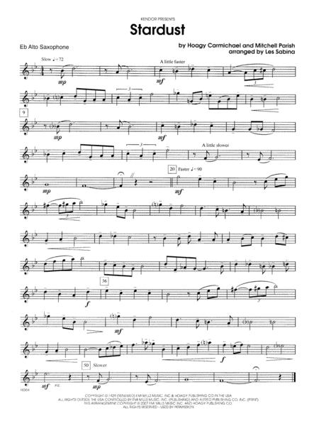 Stardust - Eb Alto Saxophone