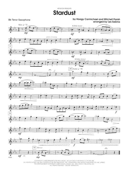 Stardust - Bb Tenor Saxophone