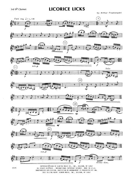 Licorice Licks - 3rd Bb Clarinet