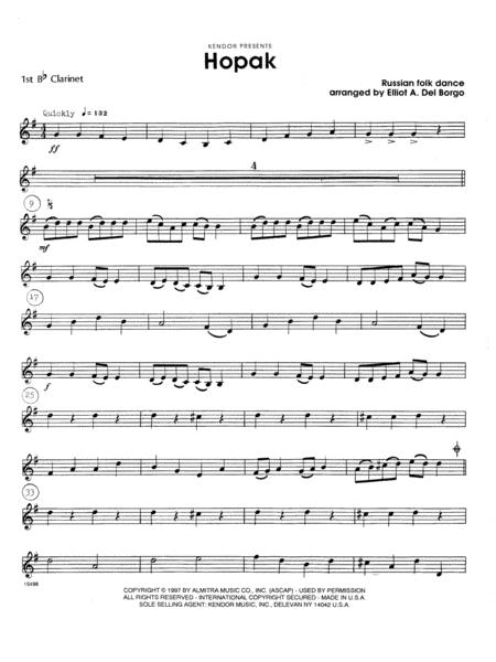 Hopak - 1st Bb Clarinet