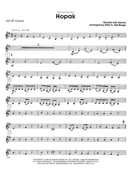 Hopak - 2nd Bb Clarinet