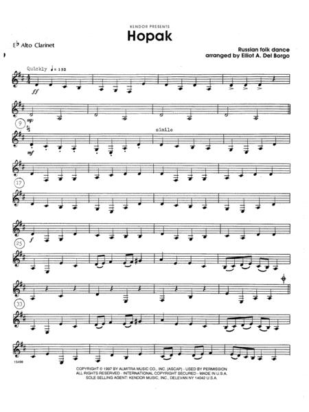 Hopak - Eb Alto Clarinet