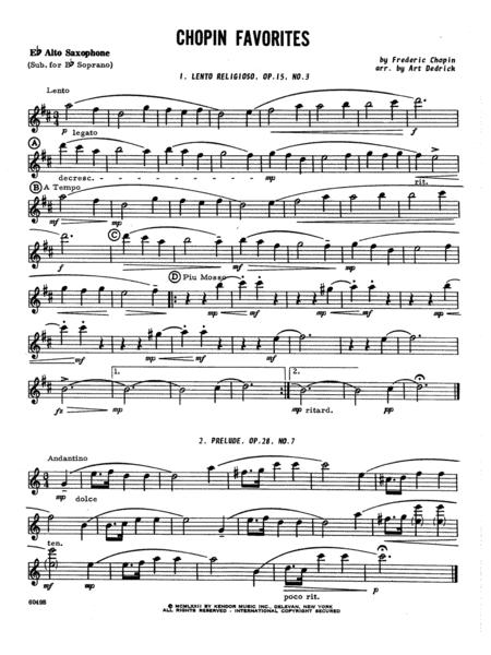 Chopin Favorites - Opt. Alto Sax