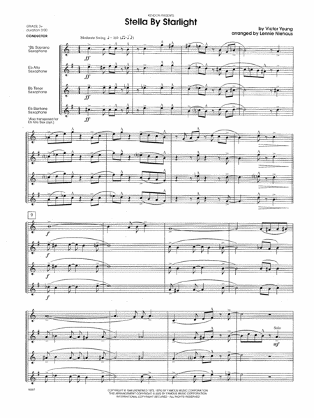 Stella By Starlight (from the Paramount Picture The Uninvited) - Full Score