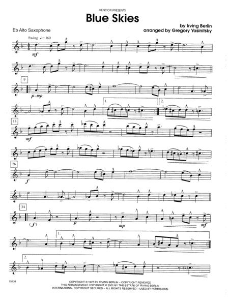 Blue Skies - Eb Alto Saxophone