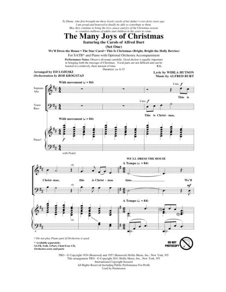 The Many Joys Of Christmas (featuring The Carols of Alfred Burt) Set 1