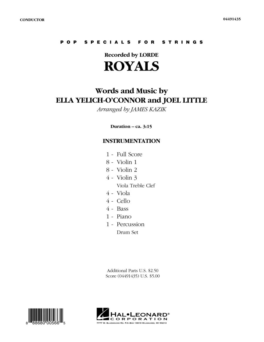 Royals - Conductor Score (Full Score)