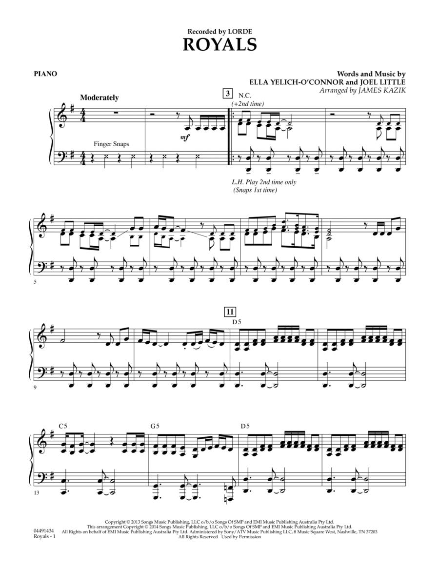 Royals - Piano