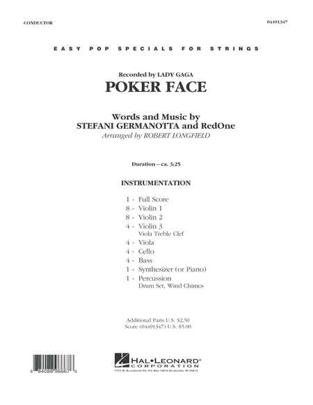 Poker Face - Conductor Score (Full Score)