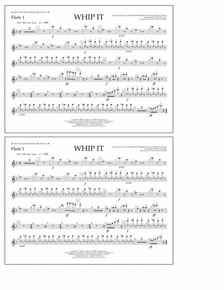 Whip It - Flute 1