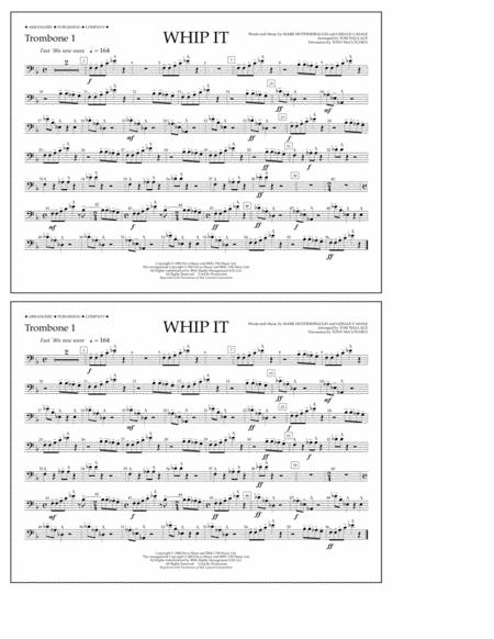 Whip It - Trombone 1