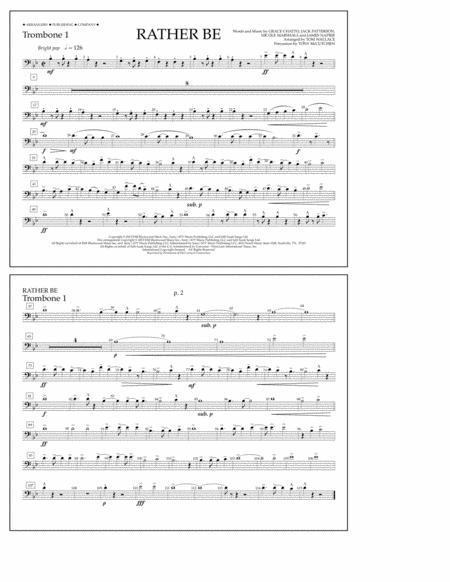 Rather Be - Trombone 1