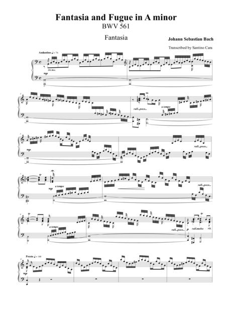 Fantasia and Fugue in A minor BWV561