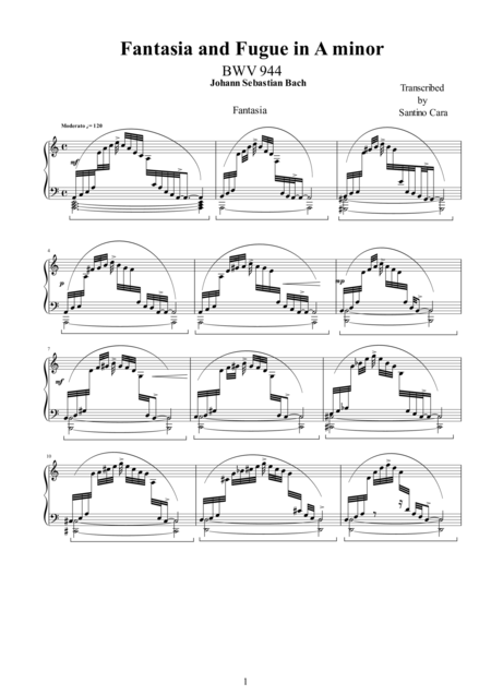 Fantasia and Fugue in A minor BWV 944