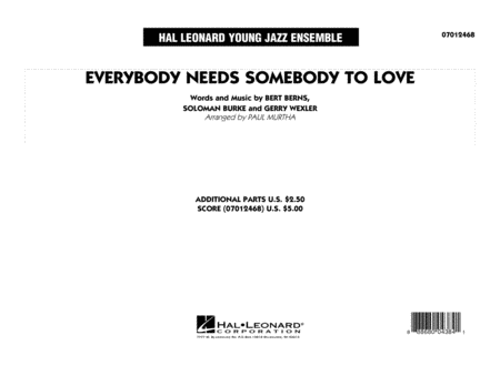 Everybody Needs Somebody to Love - Conductor Score (Full Score)
