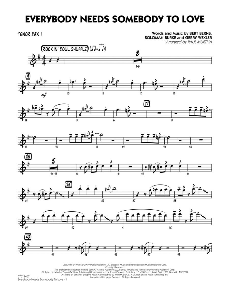 Everybody Needs Somebody to Love - Tenor Sax 1