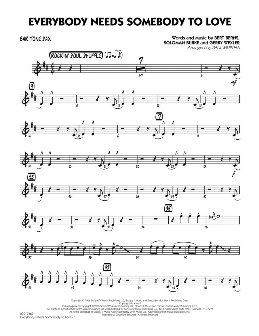 Everybody Needs Somebody to Love - Baritone Sax