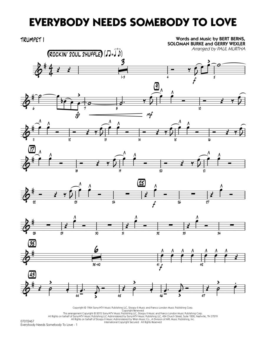 Everybody Needs Somebody to Love - Trumpet 1