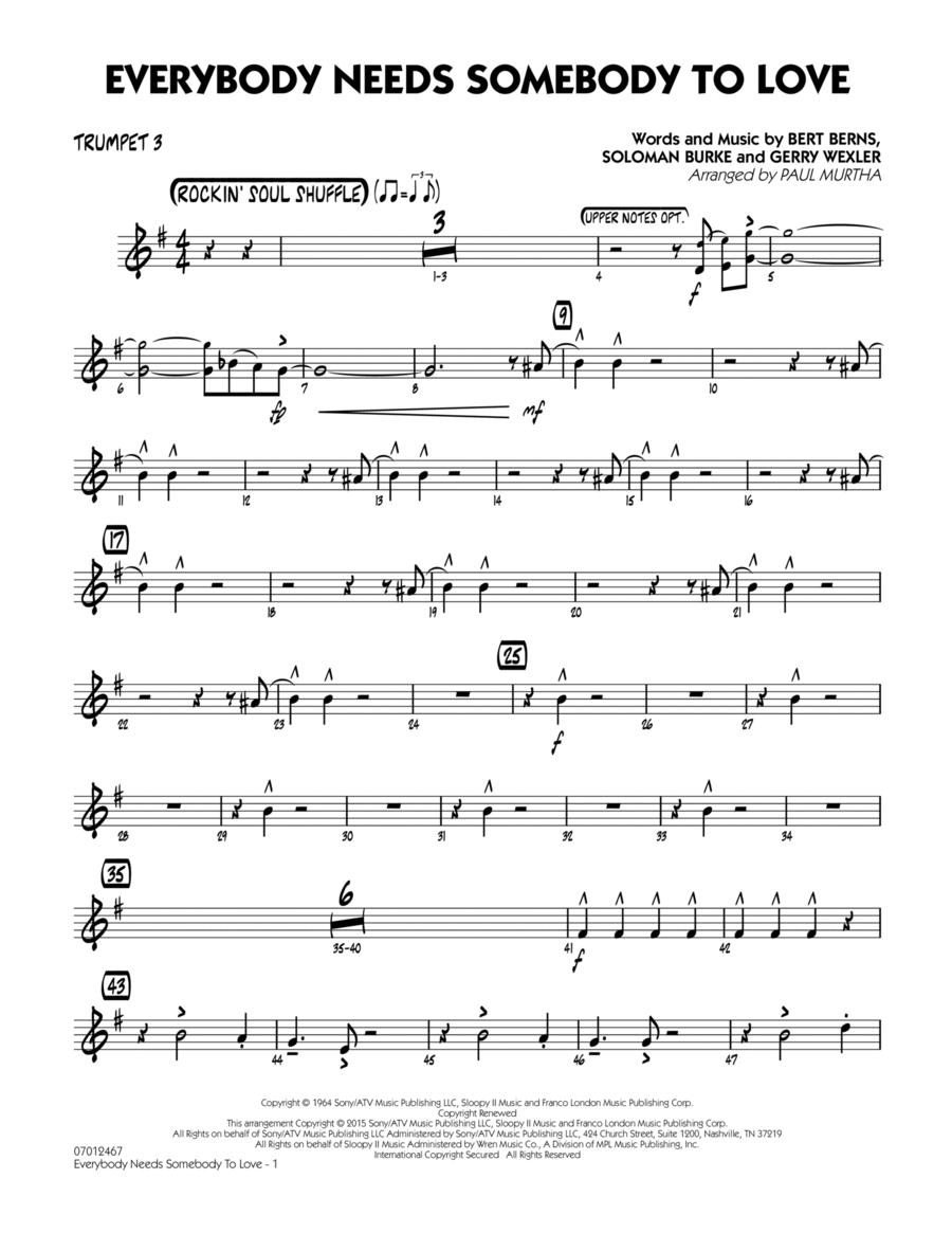 Everybody Needs Somebody to Love - Trumpet 3