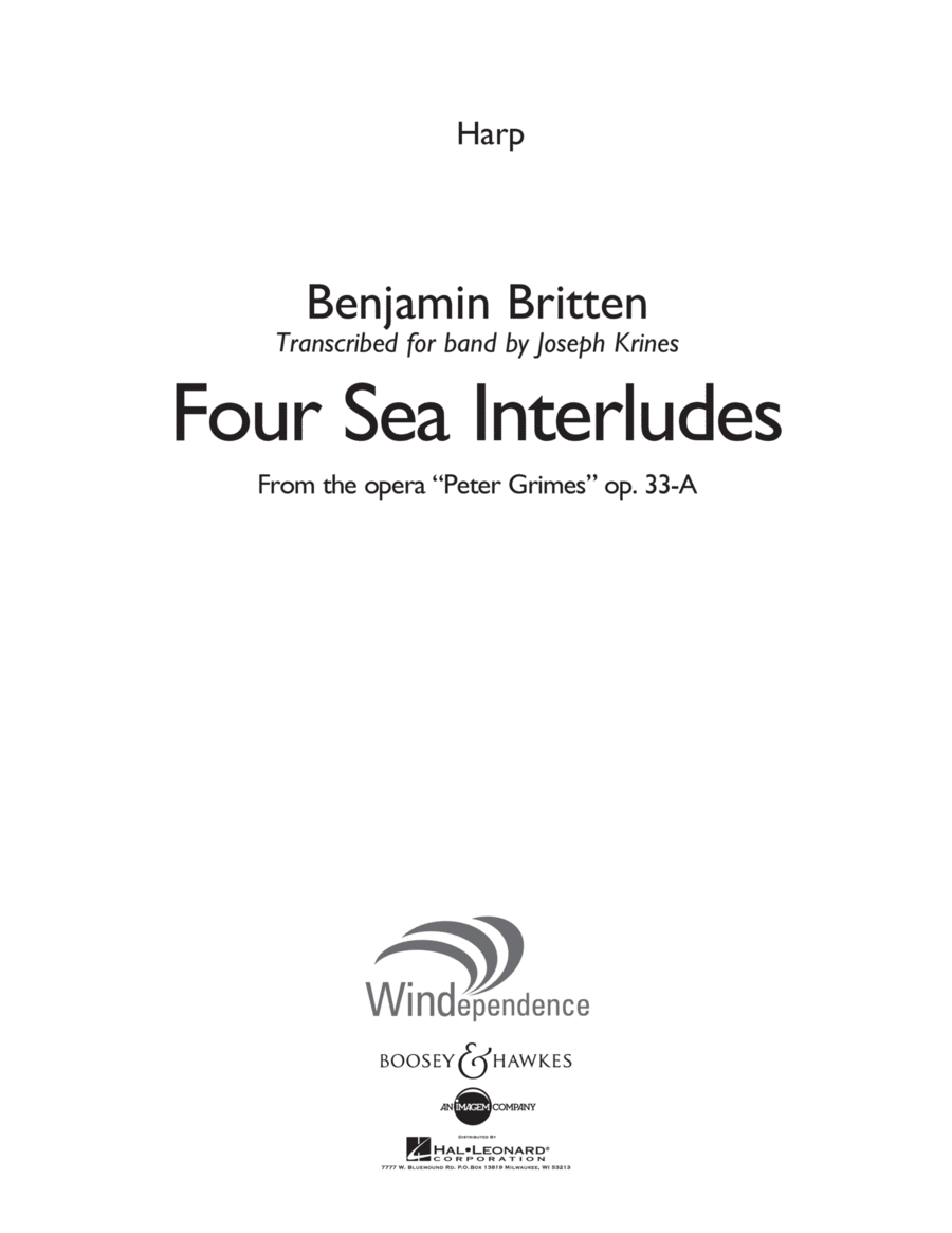 Four Sea Interludes (from Peter Grimes, Op 33A) - Harp
