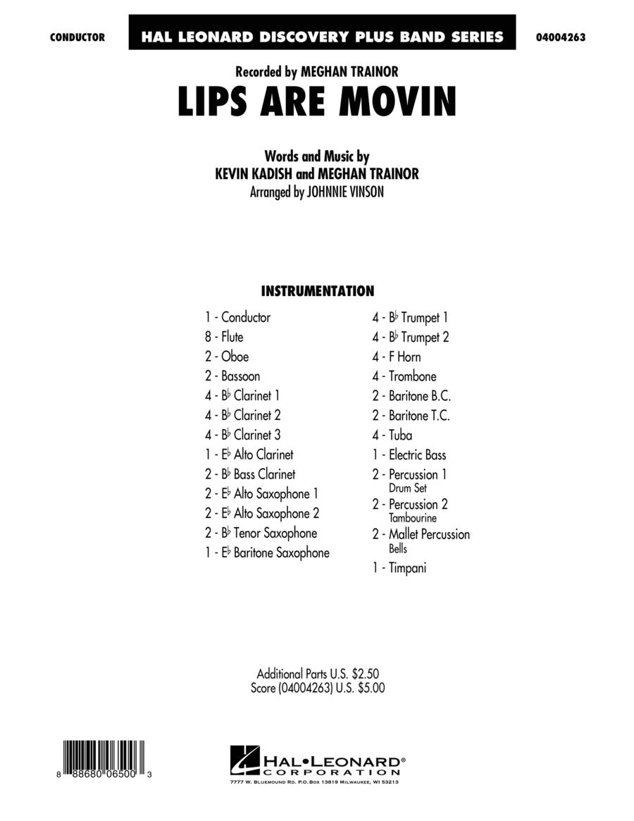 Lips Are Movin' - Conductor Score (Full Score)