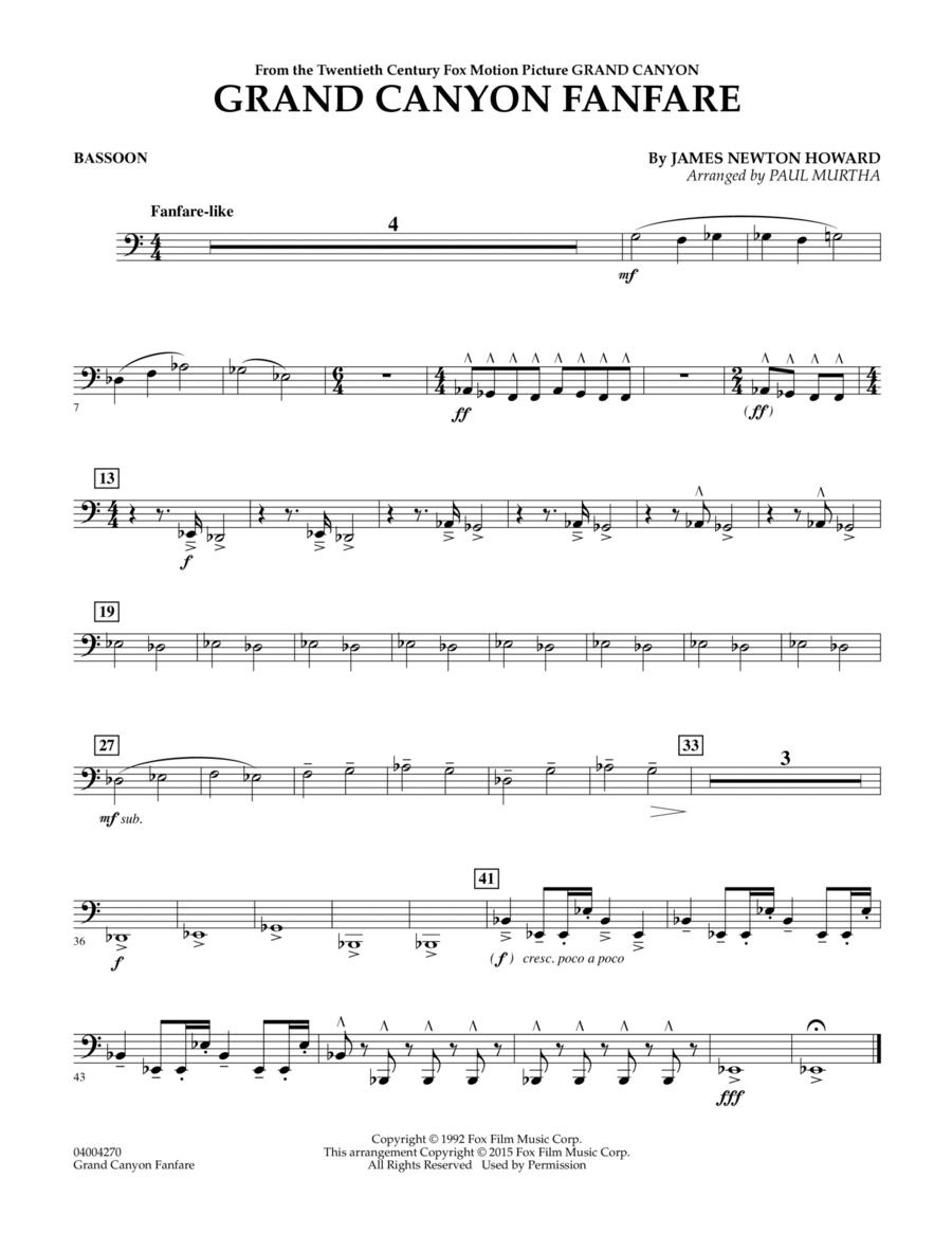Grand Canyon Fanfare - Bassoon
