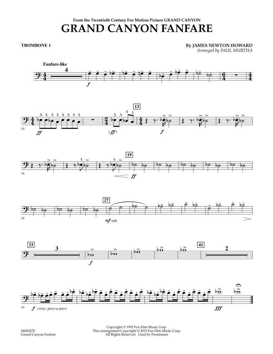 Grand Canyon Fanfare - Trombone 1