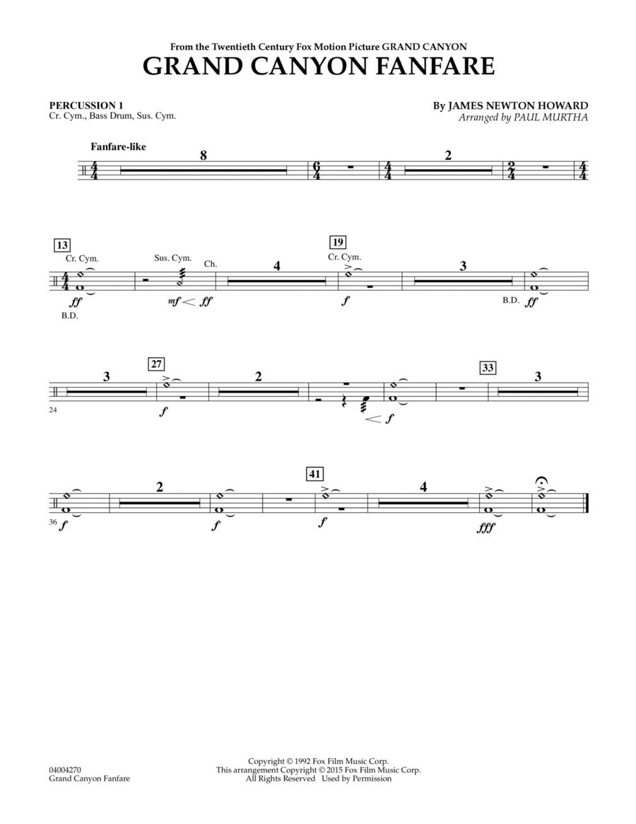 Grand Canyon Fanfare - Percussion 1