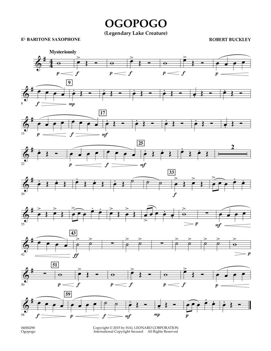 Ogopogo (Legendary Lake Creature) - Eb Baritone Saxophone