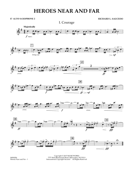 Heroes Near and Far - Eb Alto Saxophone 2