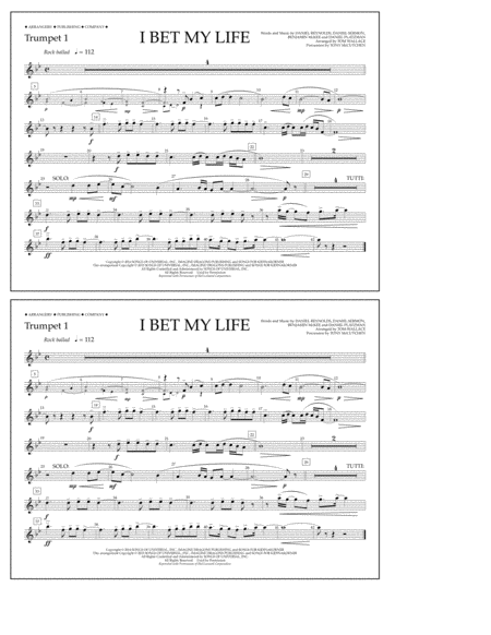 I Bet My Life - Trumpet 1