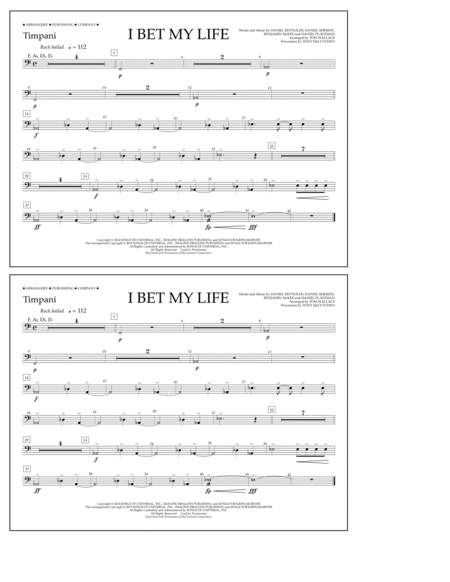 I Bet My Life - Timpani