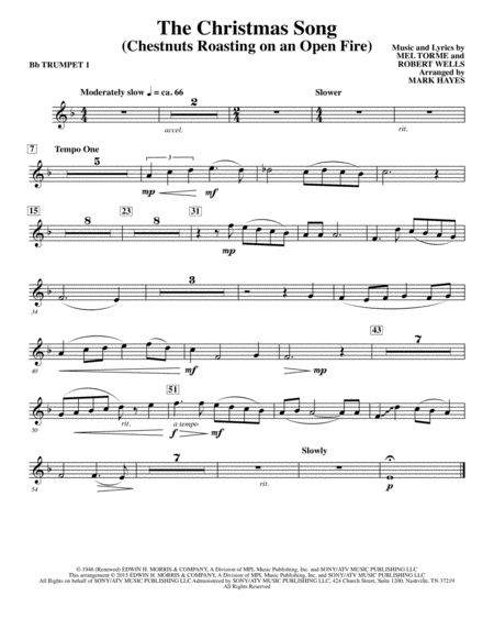 The Christmas Song (Chestnuts Roasting On An Open Fire) - Bb Trumpet 1