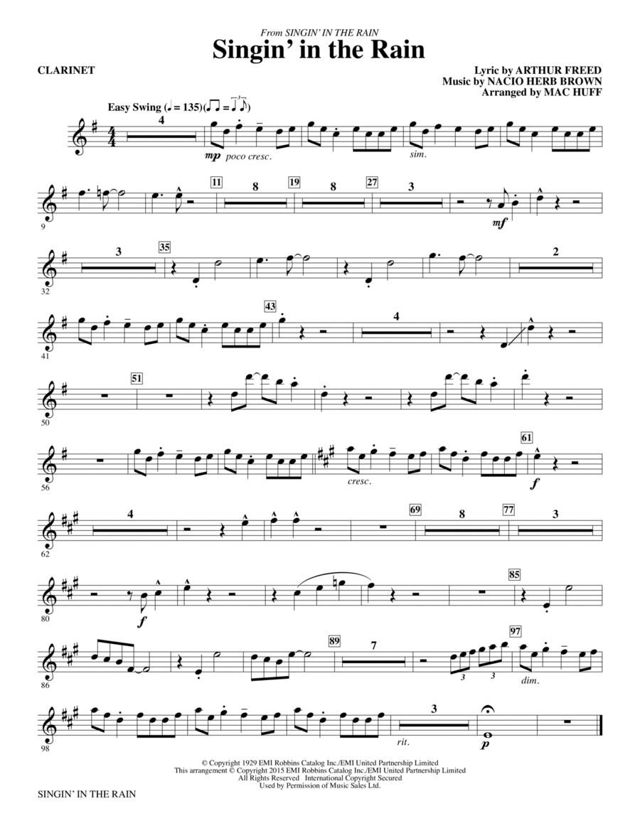 Singin' in the Rain - Clarinet