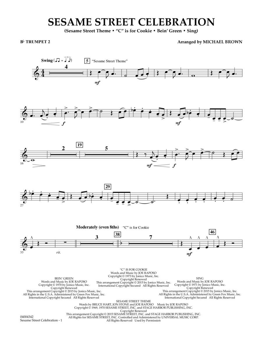 Sesame Street Celebration - Bb Trumpet 2