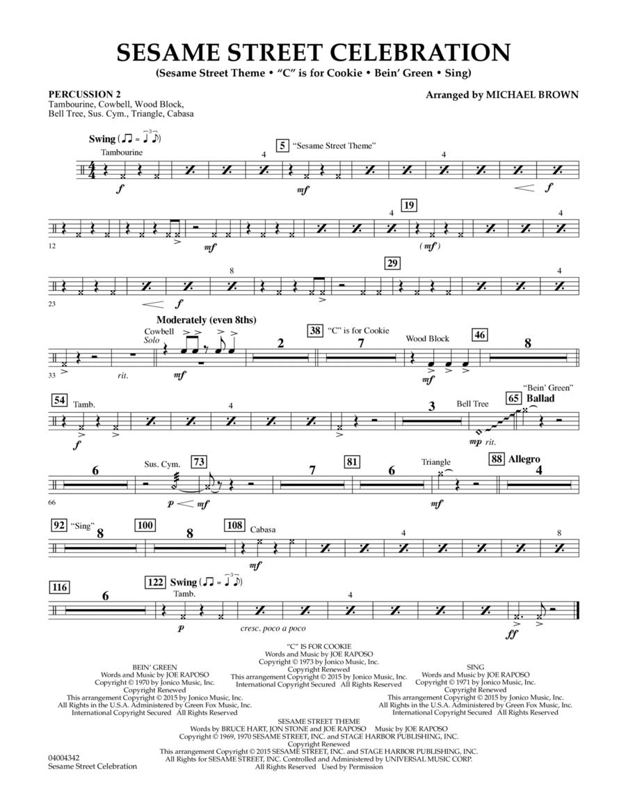 Sesame Street Celebration - Percussion 2
