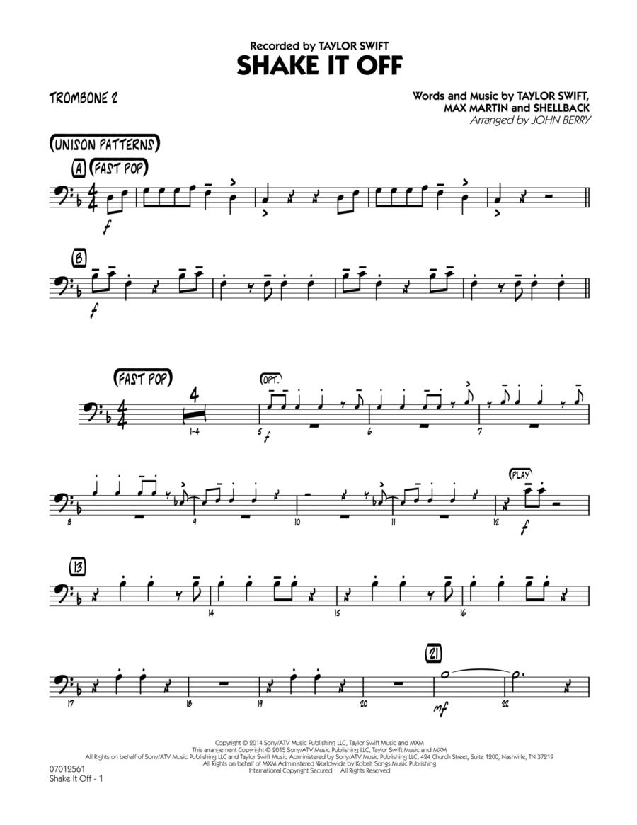 Shake It Off - Trombone 2