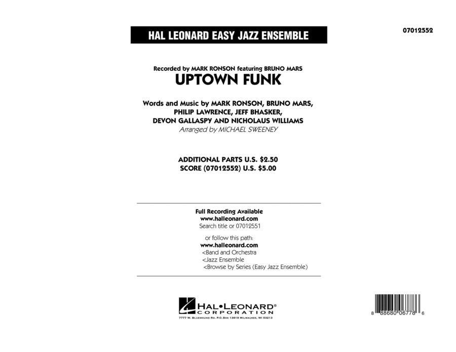 Uptown Funk - Conductor Score (Full Score)