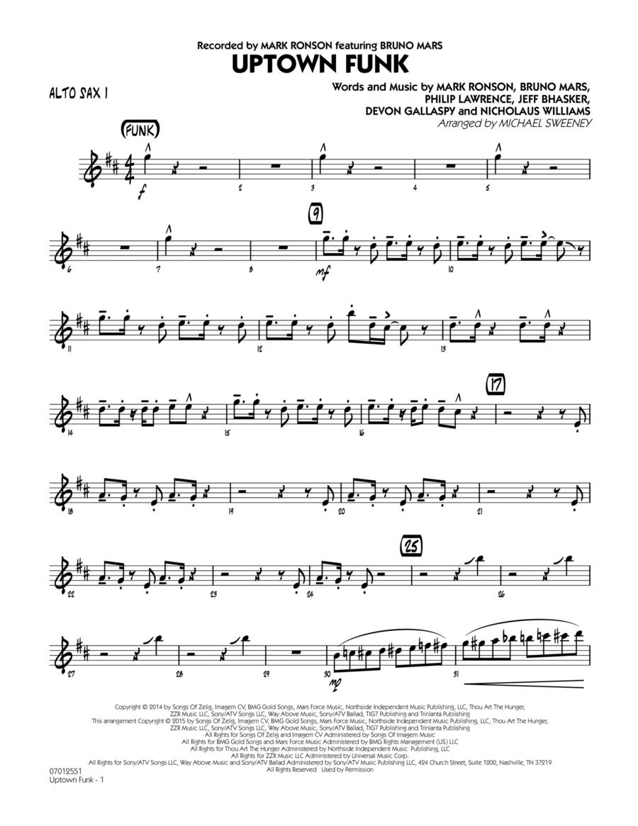 Uptown Funk - Alto Sax 1