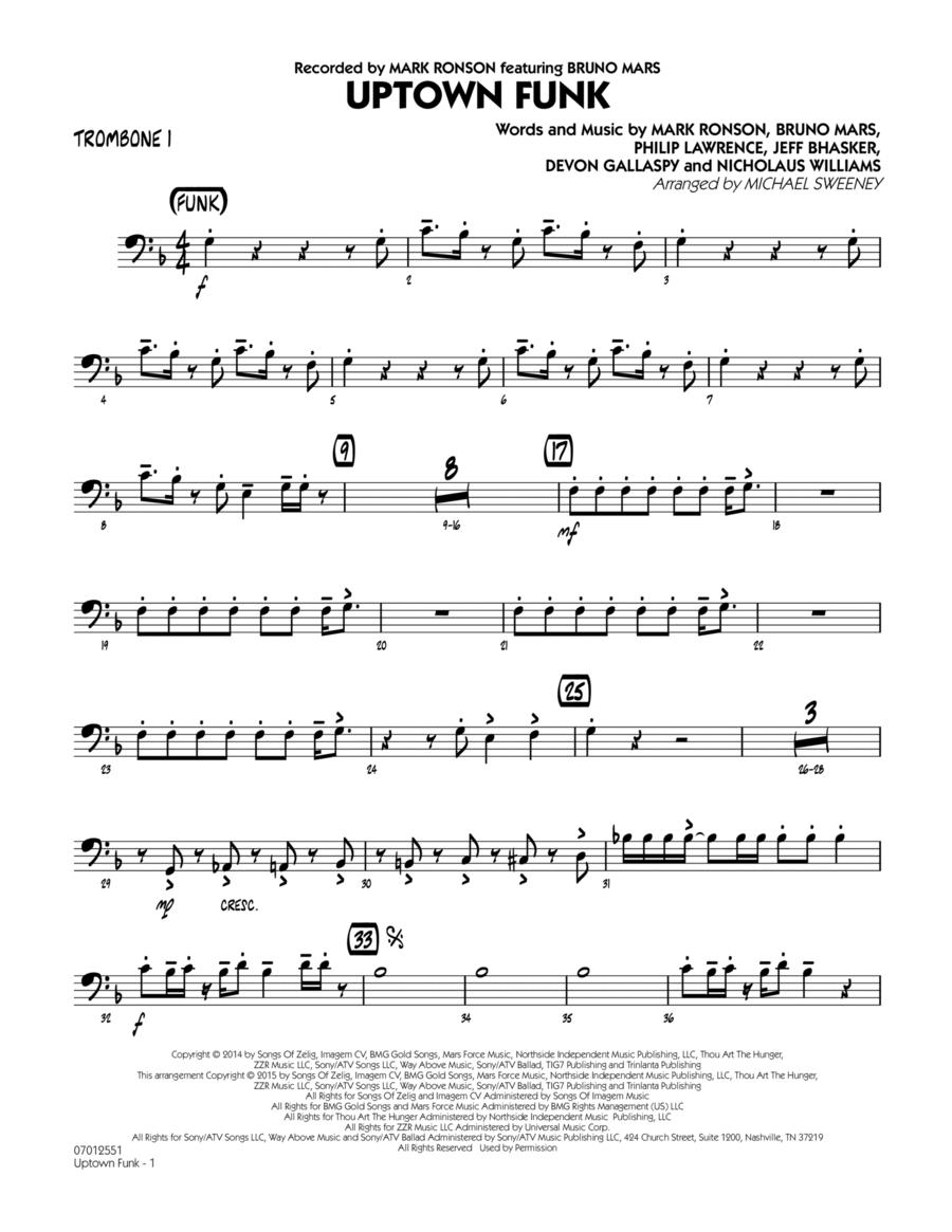 Uptown Funk - Trombone 1