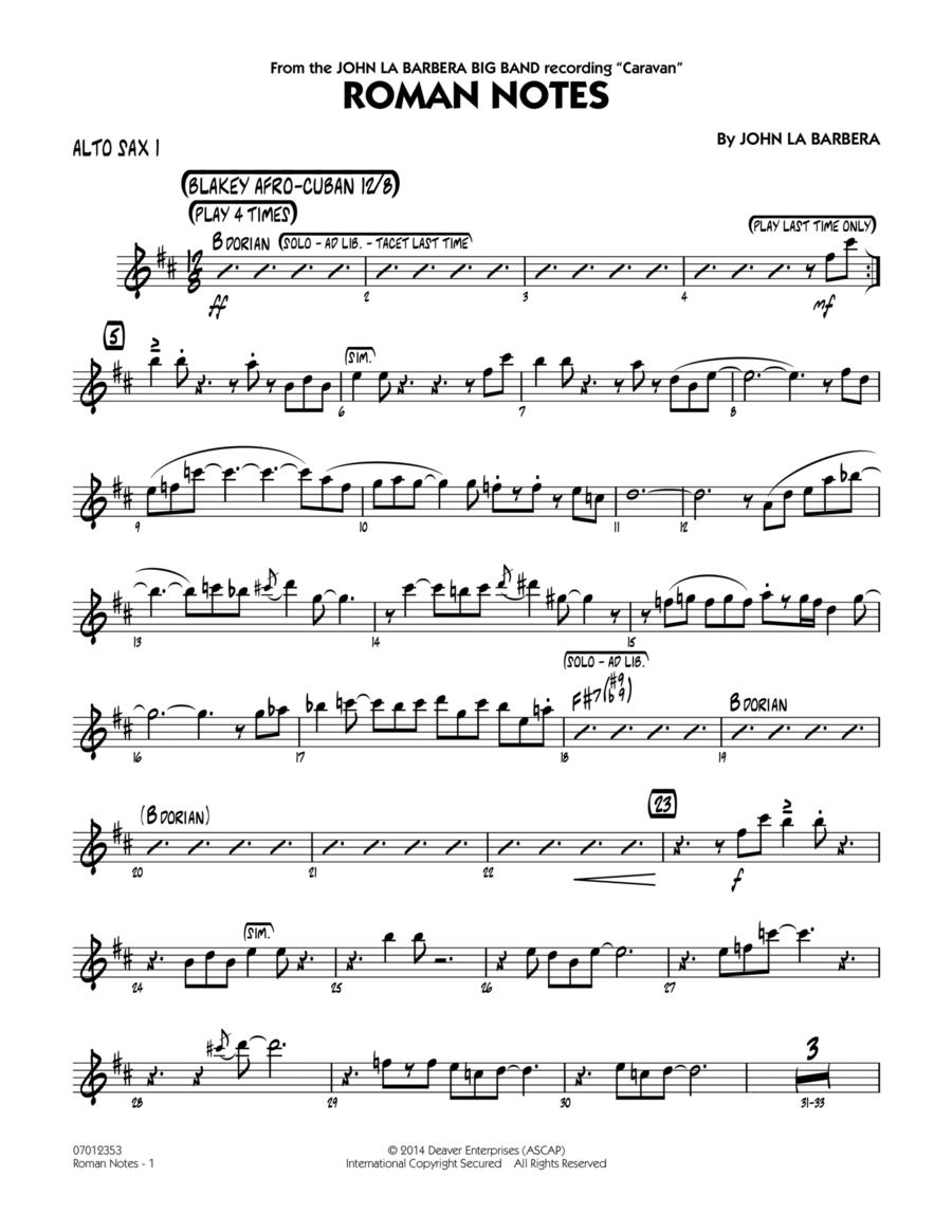 Roman Notes - Alto Sax 1