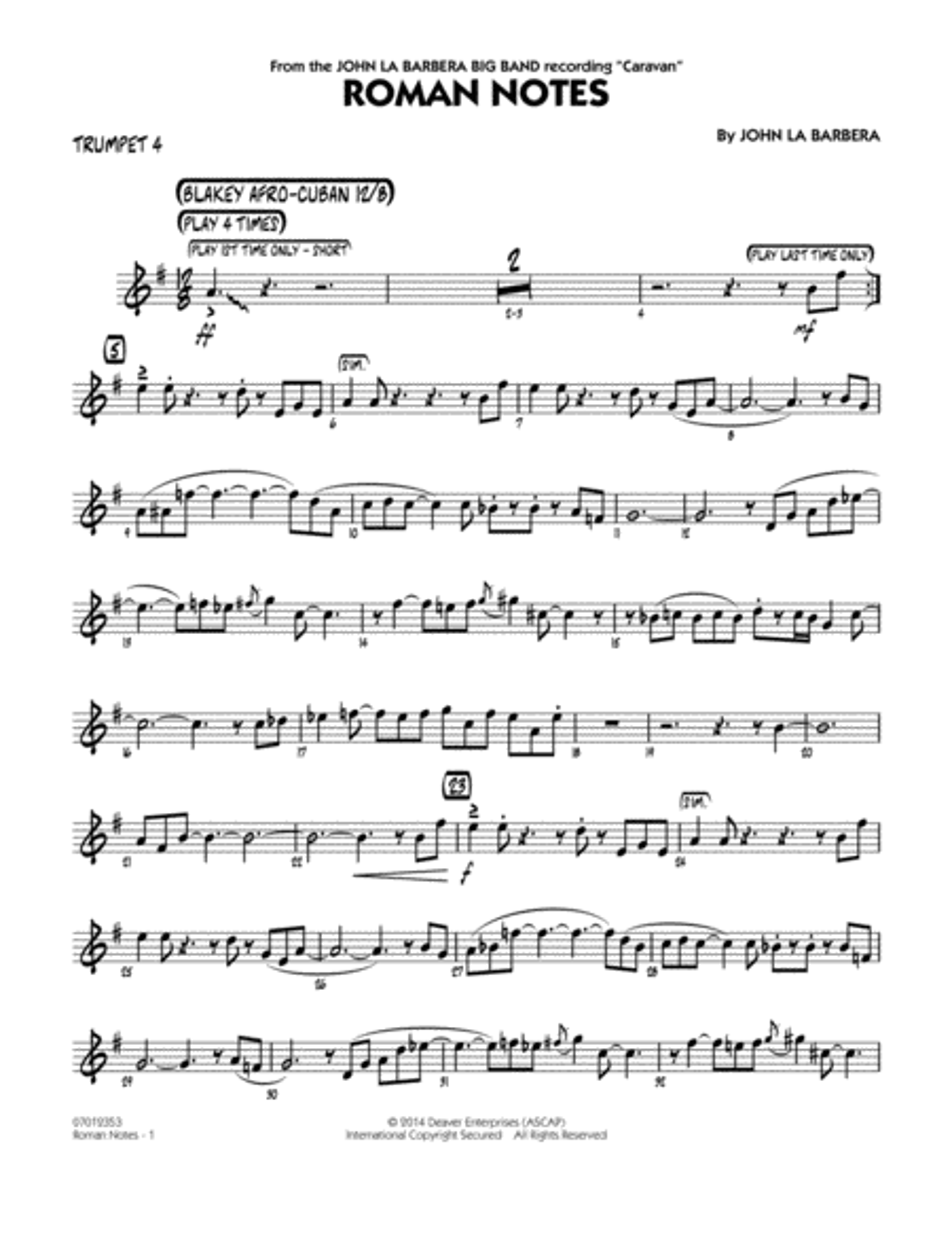 Roman Notes - Trumpet 4