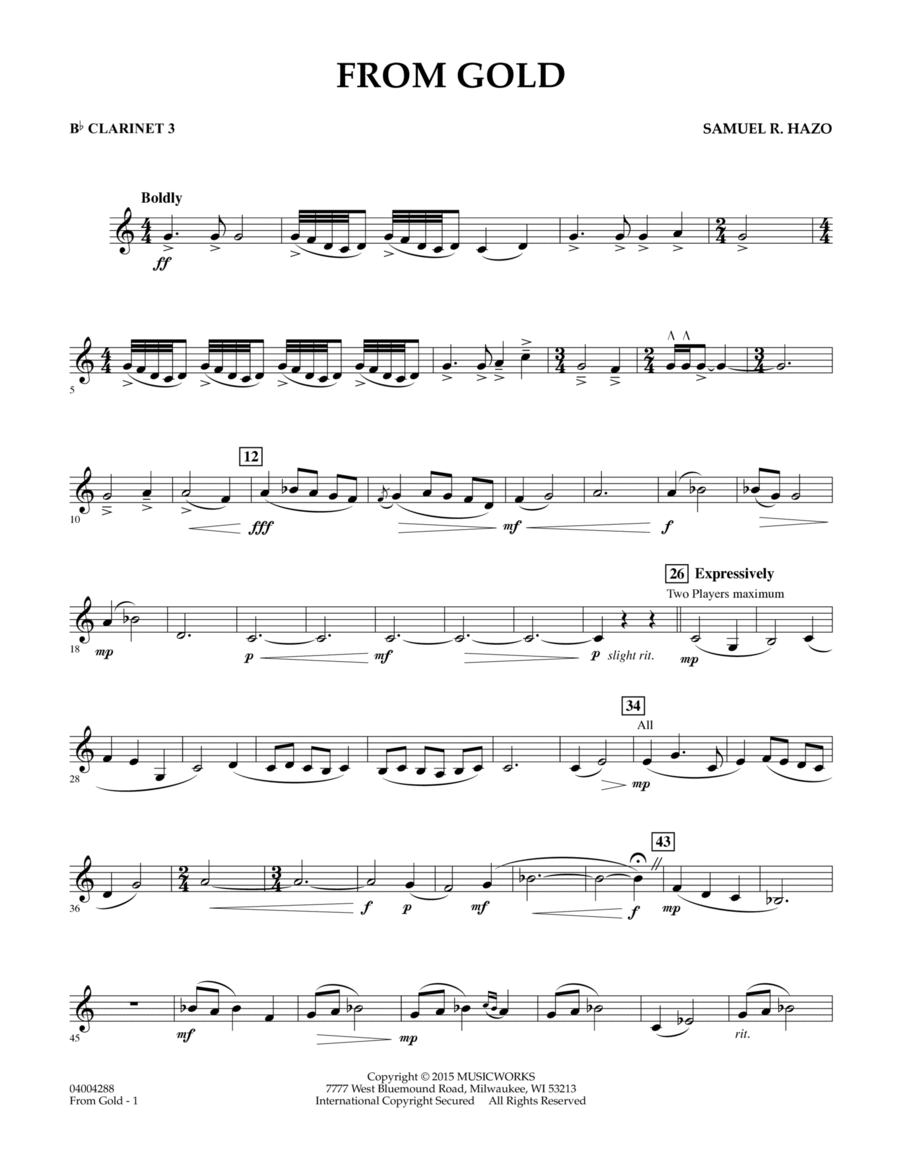 From Gold - Bb Clarinet 3