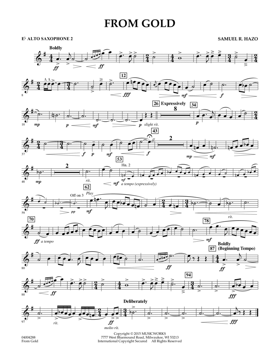 From Gold - Eb Alto Saxophone 2
