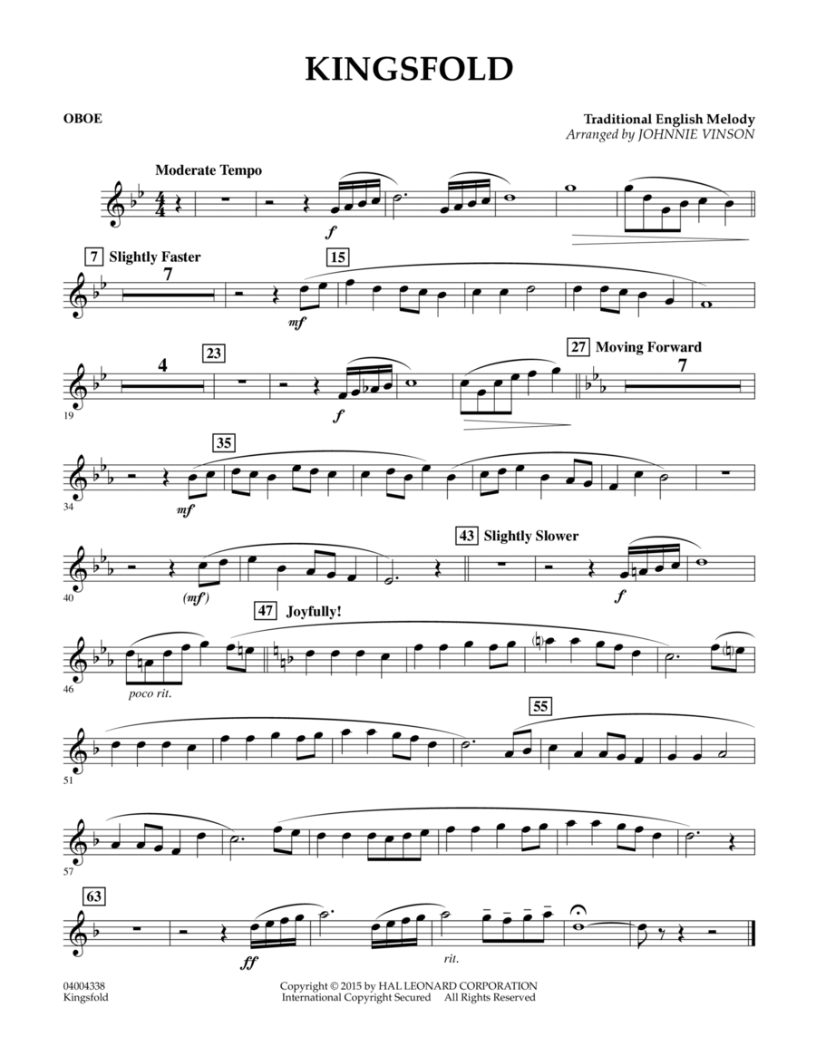 Kingsfold - Oboe
