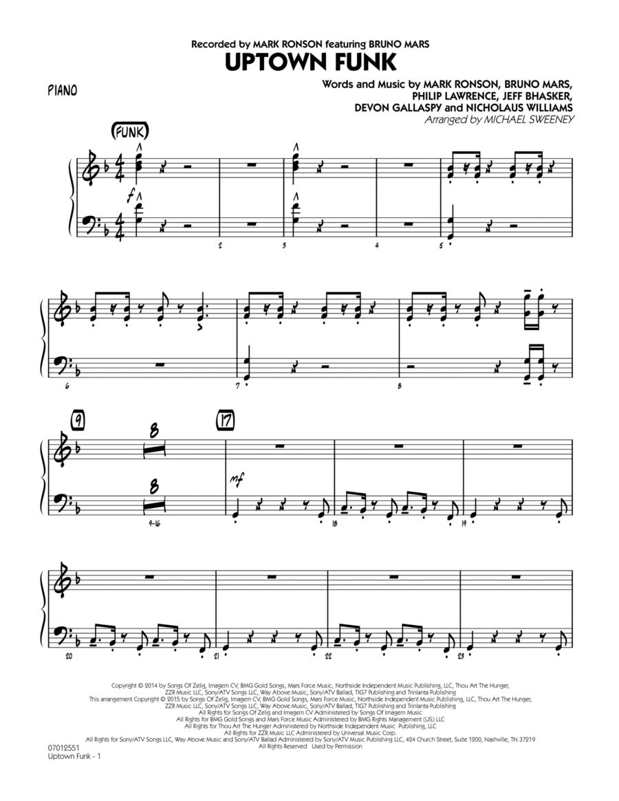Uptown Funk - Piano