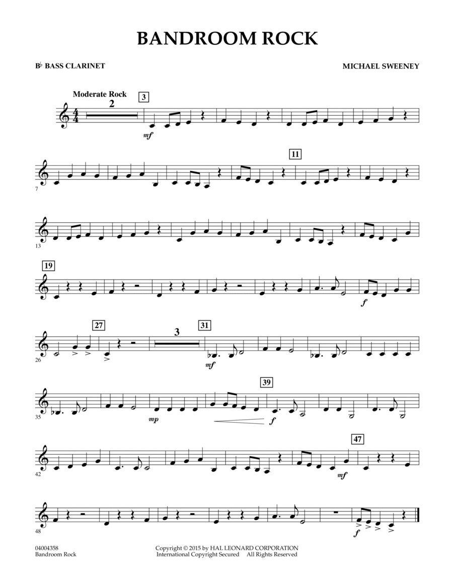 Bandroom Rock - Bb Bass Clarinet