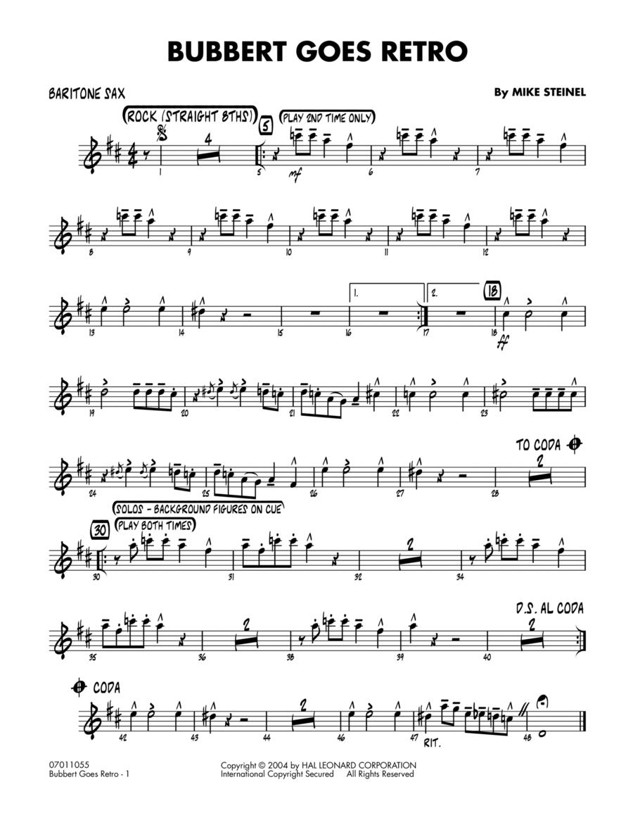 Bubbert Goes Retro - Baritone Sax